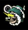 skull smoke high vector image vector image