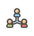 teamwork social network icon cartoon vector image