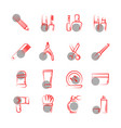 thin line cosmetics icons on white background vector image