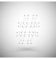 Three dimensional mesh stylish hashtag sign on vector image