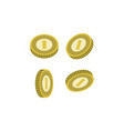 various golden coins isolated icon vector image vector image