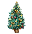 Watercolor Christmas tree vector image