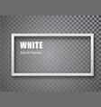white rectangular frame blank banner template vector image vector image
