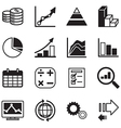 diagram and graphs icons set vector image