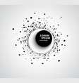 abstract business background with 3d circular vector image vector image