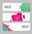 abstract paper cut layered horizontal banners vector image vector image