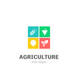 agriculture icons flat style logo design