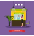 bank cashier cashbox vector image vector image