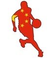 basketball colors of China vector image vector image