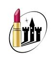 Beauty castle lipstic vector image vector image