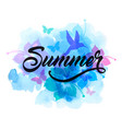 blue abstract summer tropical background vector image vector image
