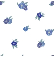 Blue flowers on white background vector image vector image