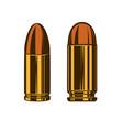 bullet cartridge from hand gun design element vector image vector image