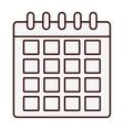 calendar representation icon image vector image