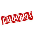 california red square stamp vector image