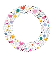 celebration happy cartoon circle frame vector image vector image