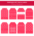 Christmas Retro Scandinavian Set - Tags Labels vector image vector image