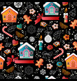 christmas seamless pattern with colorful toys vector image
