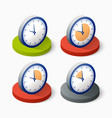 clock icon in trendy vector image