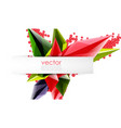 colorful blooming crystals abstract vector image vector image