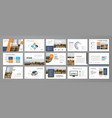 corporate slideshow templates vector image vector image