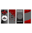 cover template design black friday modern style on vector image