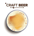 craft beer glass top view glass cup vector image vector image