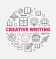 creative writing round concept line vector image vector image