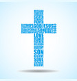 cross of religious words vector image vector image