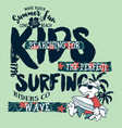 cute cartoon dog surfer wave rider vector image vector image
