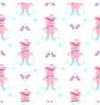 cute piggy skiing piglets on winter vacation vector image