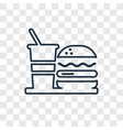 fast food concept linear icon isolated on vector image vector image