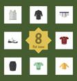 flat clothes set of underclothes uniform stylish vector image vector image