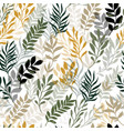 floral seamless pattern with leaves vector image vector image