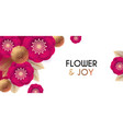 flower design simple and leaver card vector image