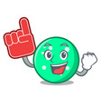 foam finger circle mascot cartoon style vector image vector image