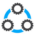 gear planetary transmission flat icon vector image
