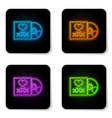 glowing neon disc with inscription xxx icon vector image vector image
