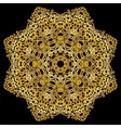 Gold circular pattern on black backgroud vector image