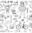 hand-drawn Hipster style pattern vector image vector image