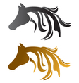 Head horses brown and black vector | Price: 1 Credit (USD $1)