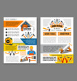 home repair work tool banner template set vector image vector image