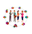 isometric business analyst modern concept vector image