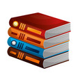 library pile books icon vector image vector image