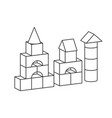 line style toy building tower for vector image vector image