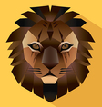 Lion face icon vector image vector image