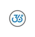 logo designs minimalis 360 vector image vector image