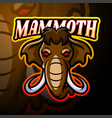 mammoth esport logo mascot design vector image vector image