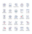 market and economy flat icons set vector image vector image