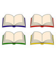 open book clipart set symbol icon design isolated vector image vector image